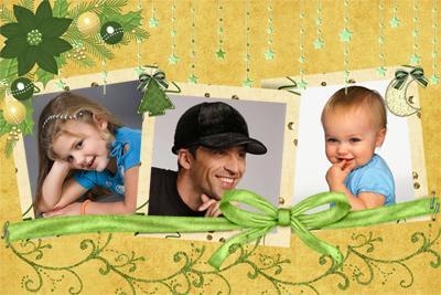 Рамка семейная на 3 фотографии