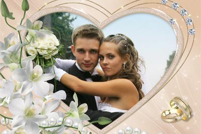 свадебные рамки для фото онлайн