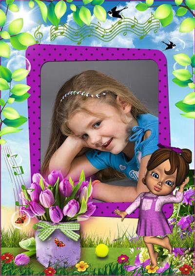 вставить фото в рамочку с куклами хотите высадить красивую